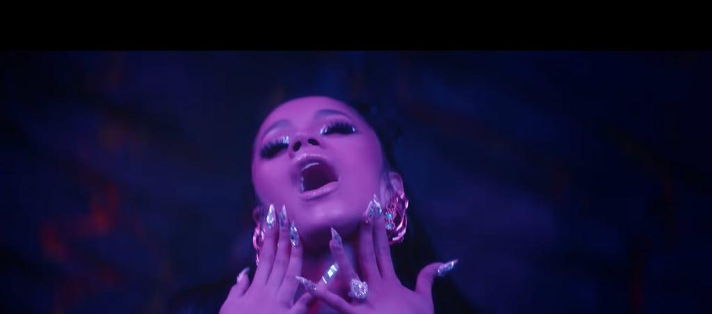 """Cardi B's Nails in """"Taki Taki"""""""