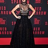 Jennifer Lawrence Dior Dress Red Sparrow New York Premiere