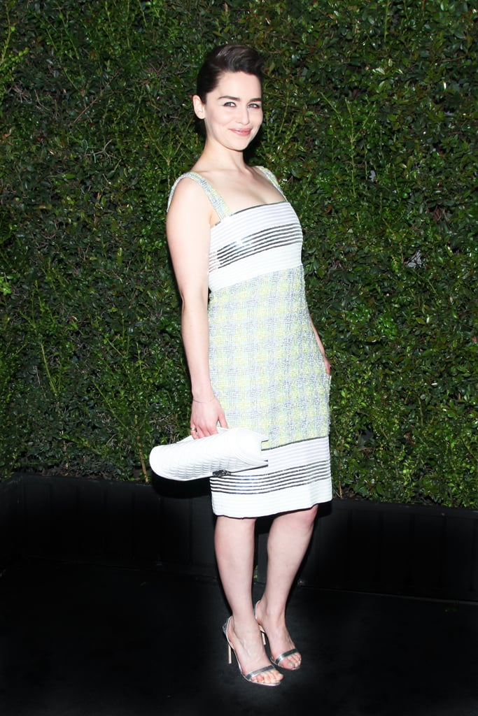 Emilia Clarke at Chanel's Pre-Oscars Dinner