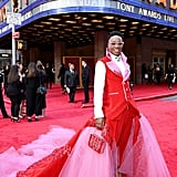 Billy Porter Wearing the Curtain From Kinky Boots at the Tony Awards