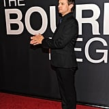 Jeremy Renner clapped at The Bourne Legacy's world premiere in NYC.