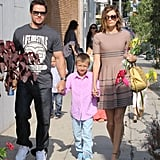 Mark Wahlberg went to a party in West Hollywood on Saturday with his wife, Rhea, and son, Michael.