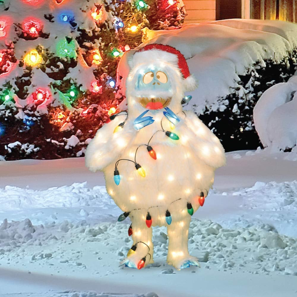Abominable Snowman Pre-Lit Christmas Yard Art