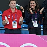 Kate Middleton cheered on Team GB's hockey team on day seven.