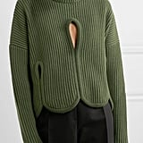 Antonio Berardi Cutout Ribbed Turtleneck Sweater