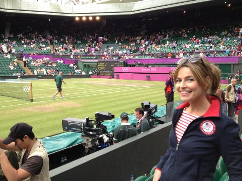 Savannah Guthrie Caught A Tennis Match At Wimbledon Celebrity