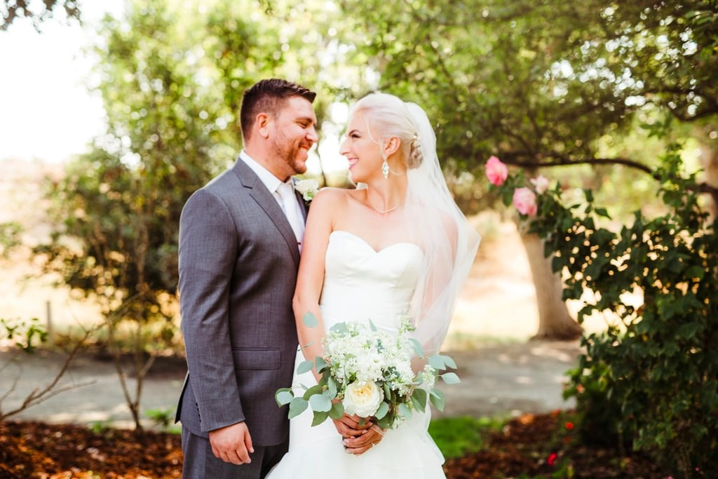 We Love That This Bride Wore Hot Pink Shoes Under Her Wedding Gown