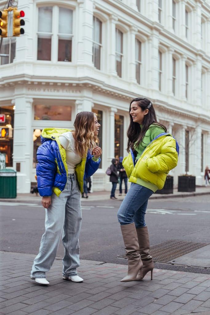 معطف نسائي يمكن ارتدائه على الجهتين