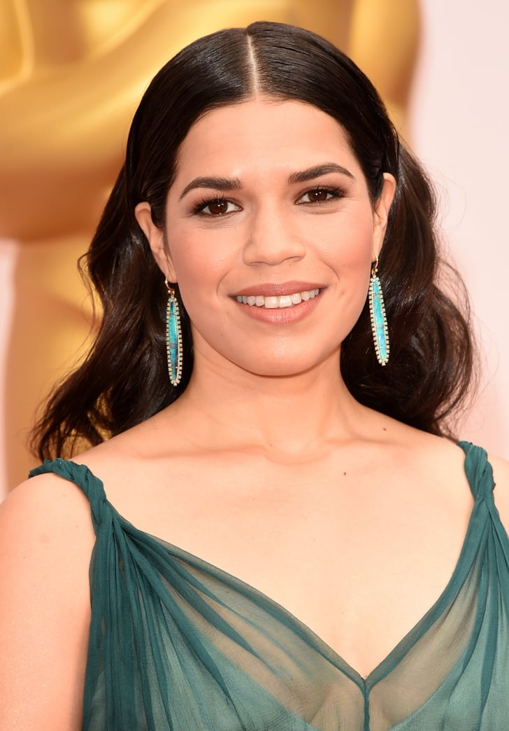 America Ferrera Oscars 2015 Hair And Makeup On The Red