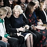 Camilla, Duchess of Cornwall, at Bethany Williams Fall 2019