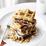 Smores Waffles With Nutella and Toasted Coconut