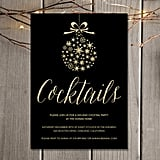 Gold Holiday Cocktail Party Invitation