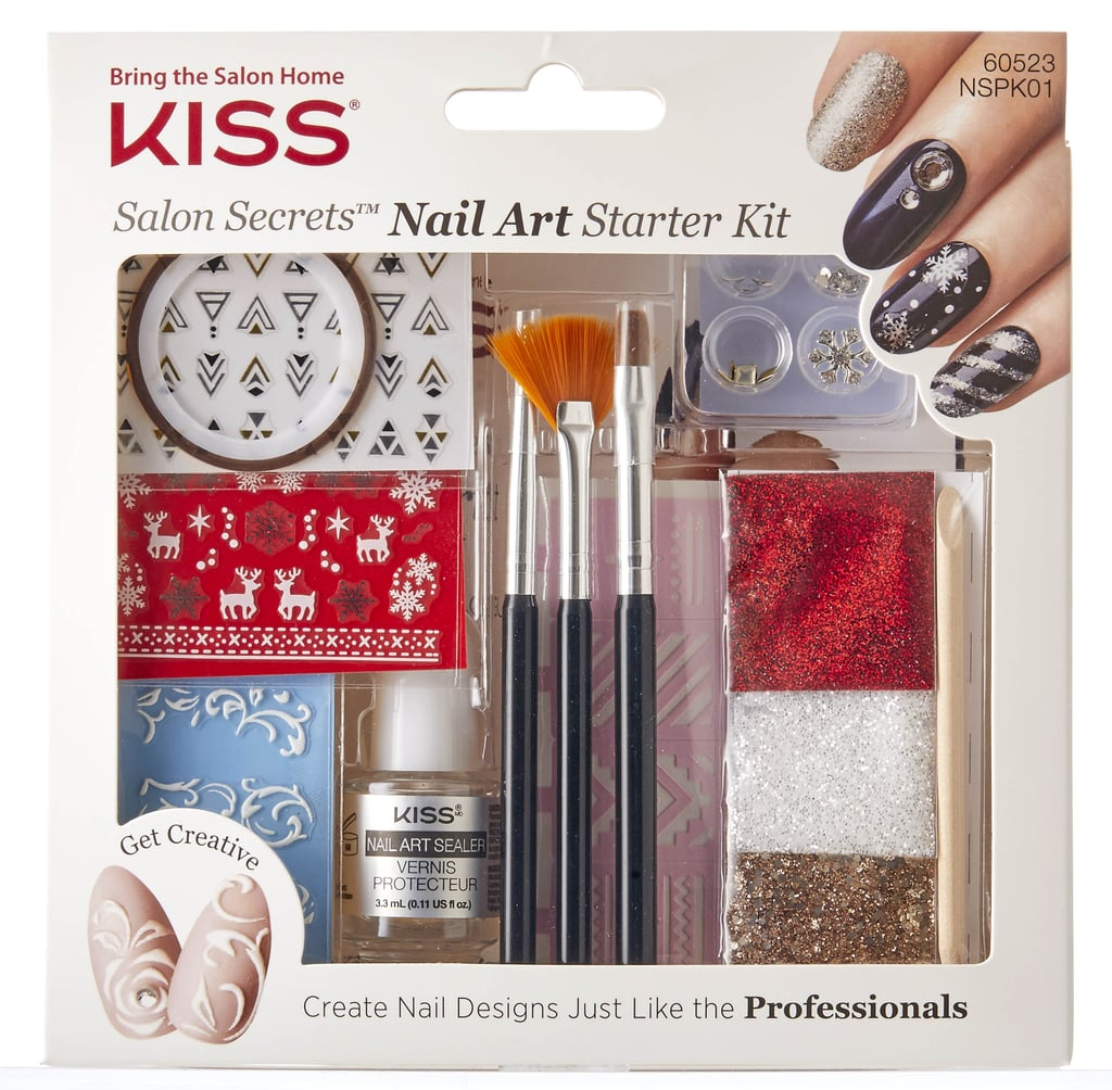 Kiss Salon Secrets Nail Art Pro Tool Kit Nsat01: Salon Secretstm Nail Art Starter Kit By Kiss