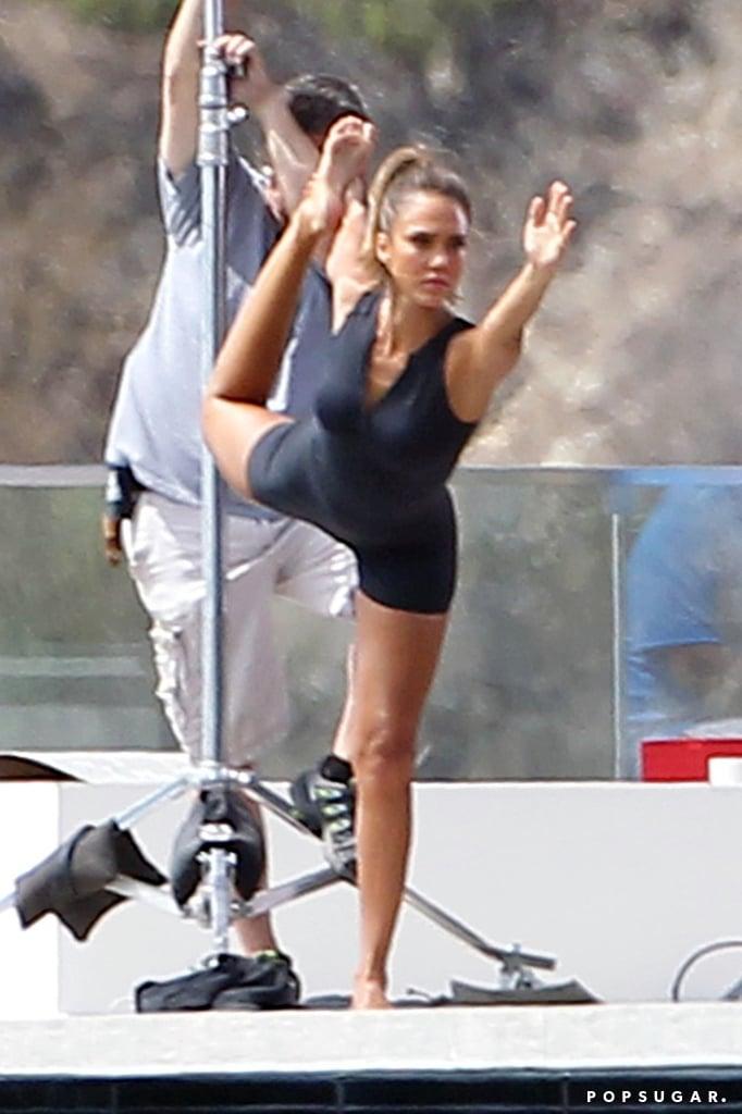 Jessica Alba Doing Yoga POPSUGAR Latina Photo 10