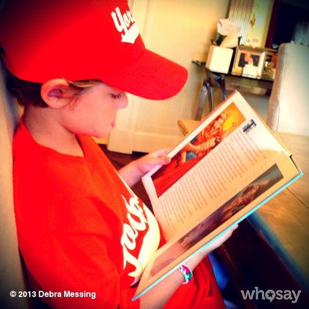Roman Zelman mixed up his baseball routine with a little Shakespeare. Source: Instagram user therealdebramessing