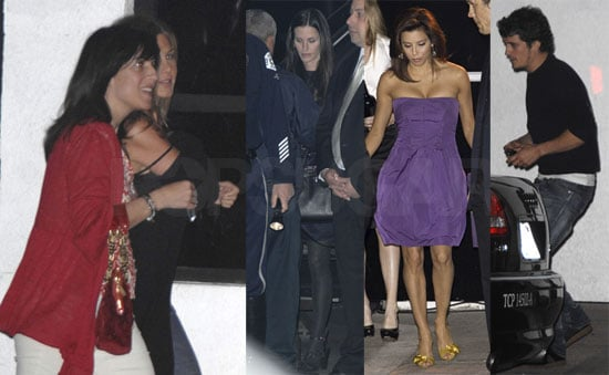 Jen, Courteney and Orlando All Come Out For Eva's Besos