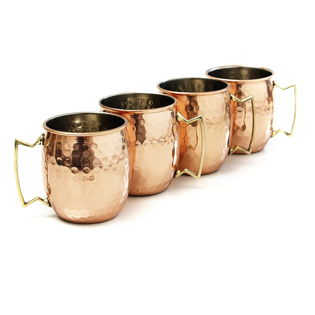 Moscow Mule Hammered Copper 18 Ounce Drinking Mug, Set of 4 ($22)
