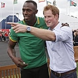 Harry and Usain Bolt