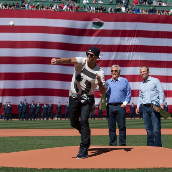 Tom Brady Throws First Pitch at Boston Red Sox Game