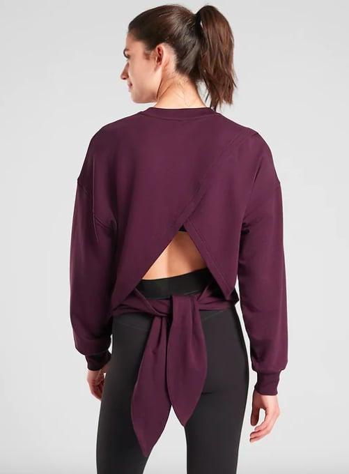 Athleta Yoga Tie Back Sweatshirt