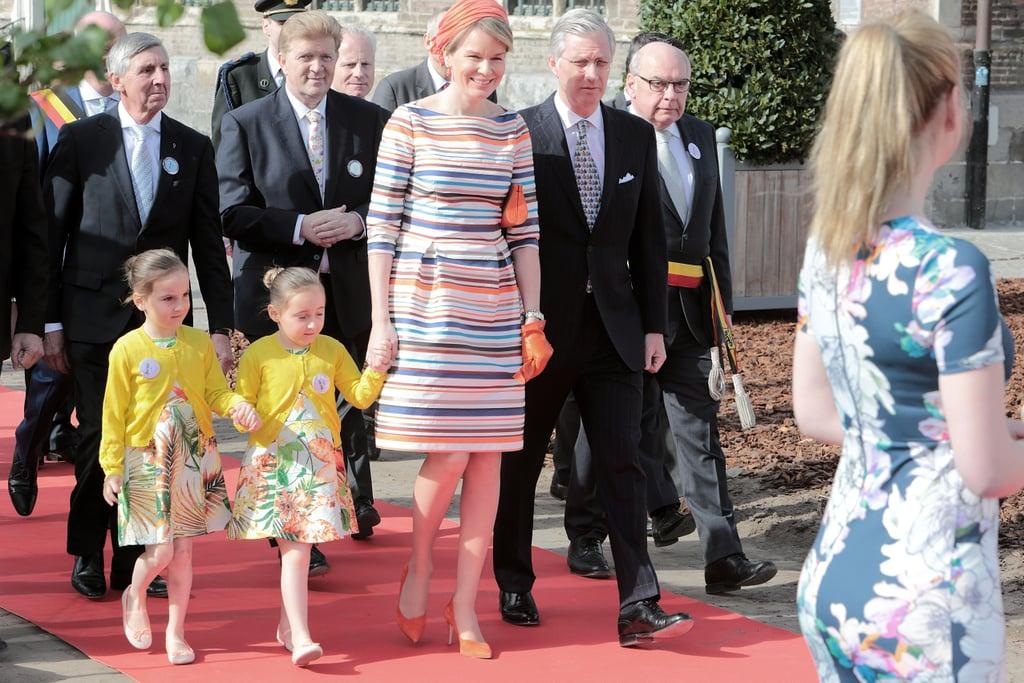 Queen Mathilde Of Belgium Natan Dress April 2016