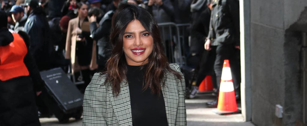 Priyanka Chopra Plaid Michael Kors Skirt Suit 2019