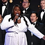 Alex Newell and the Gay Men's Chorus of Los Angeles at the 2020 Spirit Awards