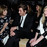 Anna Wintour took in the Saint Laurent Fall 2013 collection next to Kirsten Dunst and boyfriend Garrett Hedlund. Kirsten Dunst landed a cover of the September 2006 issue of Vogue, which coincided with the release of the film Marie Antoinette.