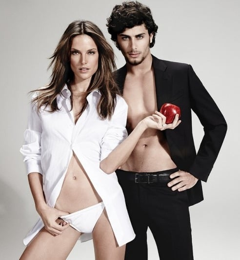Jesus Luz and Alessandra Ambrosio in Chenson Spring 2011 Ads