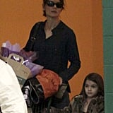 Katie Lets Suri Show Off Her Shopping Skills at the Grocery Store