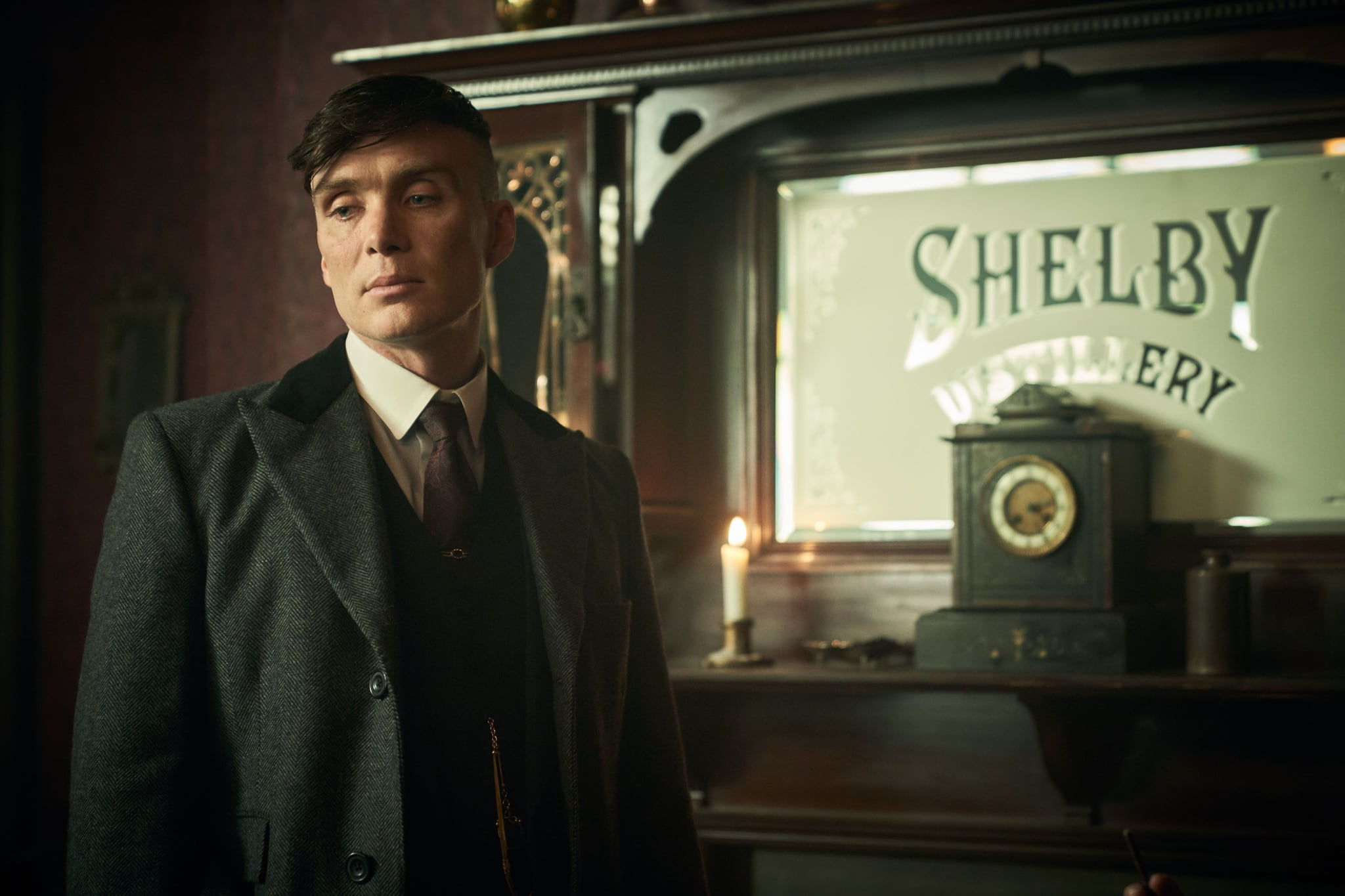 WARNING: Embargoed for publication until 00:00:01 on 17/09/2019 - Programme Name: Peaky Blinders V - TX: n/a - Episode: Peaky Blinders V Ep 6 (No. 6) - Picture Shows:  Tommy Shelby (Cillian Murphy) - (C) Caryn Mandabach Productions Ltd. 2019 - Photographer: Robert Viglasky