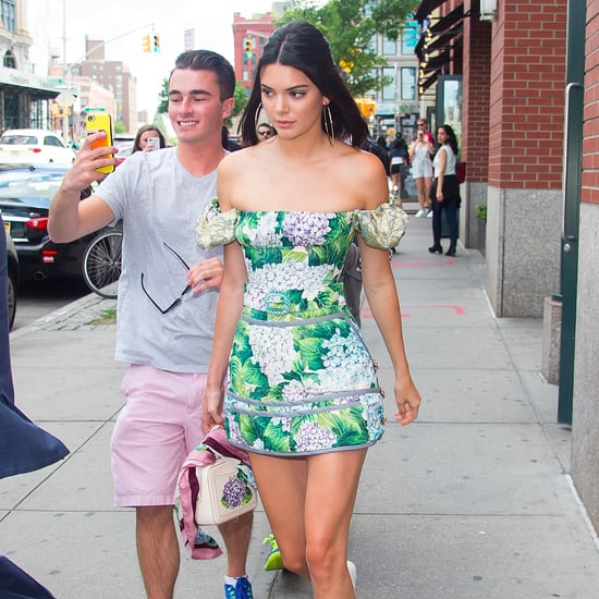 Kendall Jenner Off-the-Shoulder Floral Dress