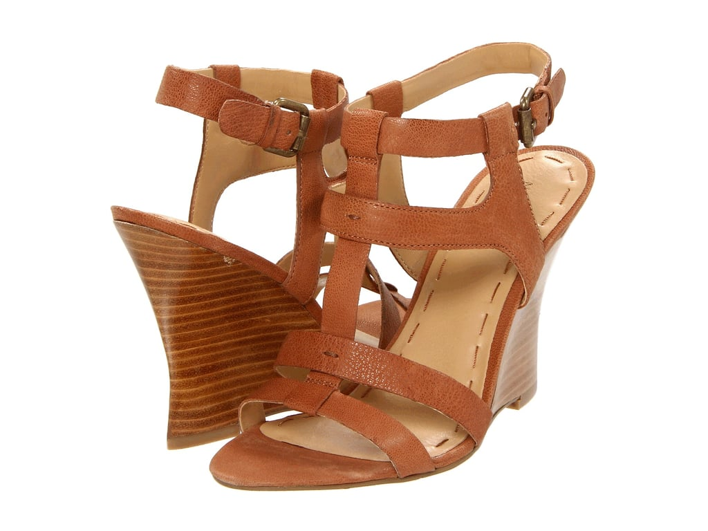 With plenty of height and a rich neutral shade, these leather cage wedges could be worn all day, every day.  Nine West Aristo Wedges ($85)