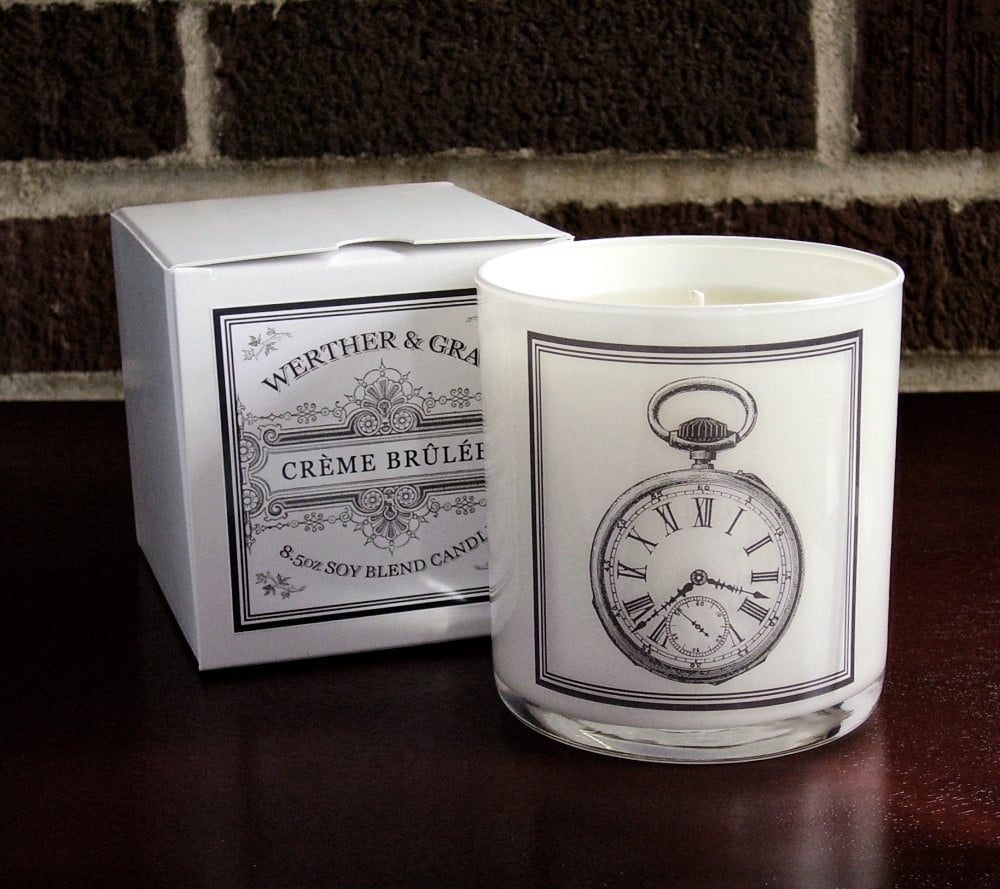 Creme brulée candle ($22)