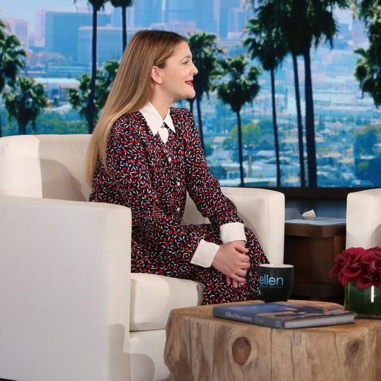 Drew Barrymore on The Ellen DeGeneres Show February 2017
