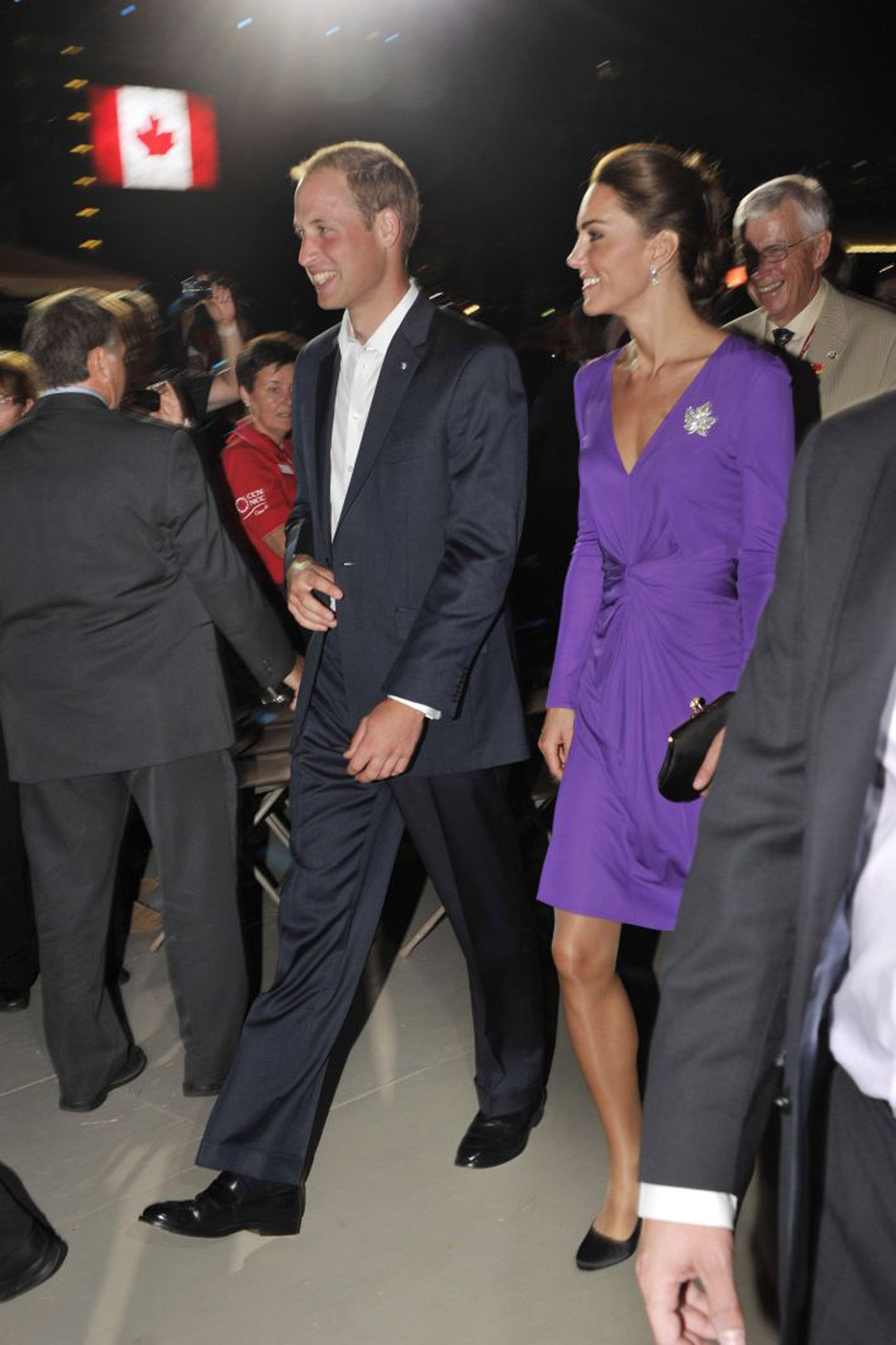 Royal Auto Group >> Pictures of Kate Middleton in Purple Issa Dress With Prince William in Ottawa, Canada | POPSUGAR ...