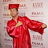 In 2008, Lance Bass went to a party at LA's Stone Rose Lounge as a graduate.