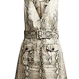 Zimmermann Corsage Python-Print Linen Mini Dress ($721)