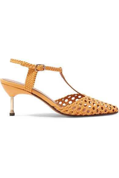 Souliers Martinez Sevilla 65 Woven Leather Pumps