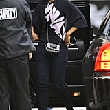 Kerry Washington made a casual arrival outside the Jimmy Kimmel Live! studios in LA on Thursday.