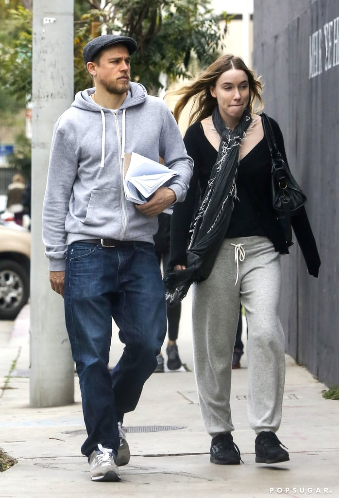 Charlie Hunnam and his girlfriend, jewelry designer Morgana McNelis, were spotted doing some furniture shopping together in LA on Saturday. The couple, who have been dating since 2007, steered clear of showing any PDA and appeared to be chatting with each other as they made their way to the Waterworks showroom on Melrose Place. Charlie also looked to be carrying papers with room dimensions — perhaps they're remodeling their home?  We've definitely missed seeing Charlie on the small screen in Sons of Anarchy, but the English actor will be hitting theaters this year in The Lost City of Z with Sienna Miller and Robert Pattinson and in 2017 in Guy Ritchie's Knights of the Roundtable: King Arthur. Keep reading to see Charlie's casual day of home decor shopping, and then check out his hands-down hottest photos and 30 things you may not know about him.