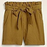 Old Navy High-Waisted Tie-Belt Linen-Blend Shorts