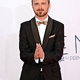Breaking Bad's Aaron Paul posed for pictures at the Emmys.