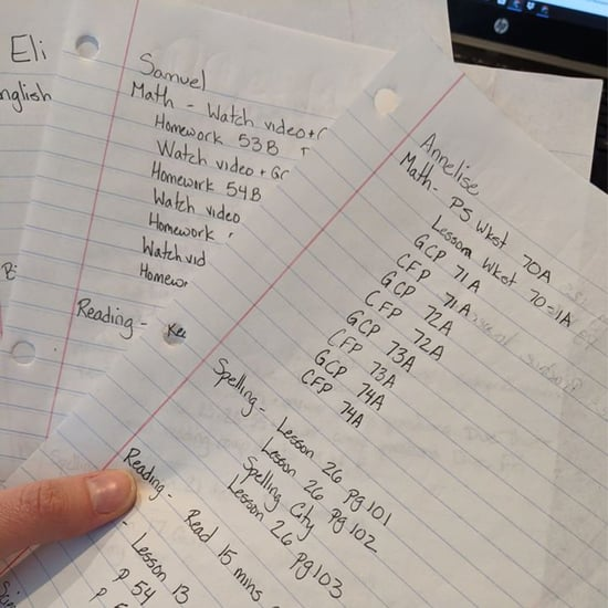 Mom Makes Kids Weekly To-Do List to Organize Assignments