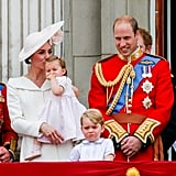 Kate with Charlotte at Trooping The Colour this year.