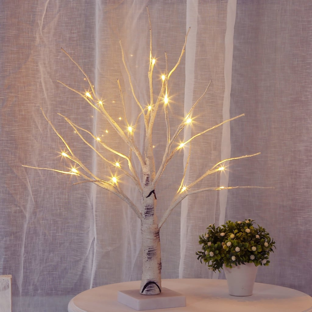 night light table decorative bolylight lighted birch tree centerpiece jewelry night light table lamp