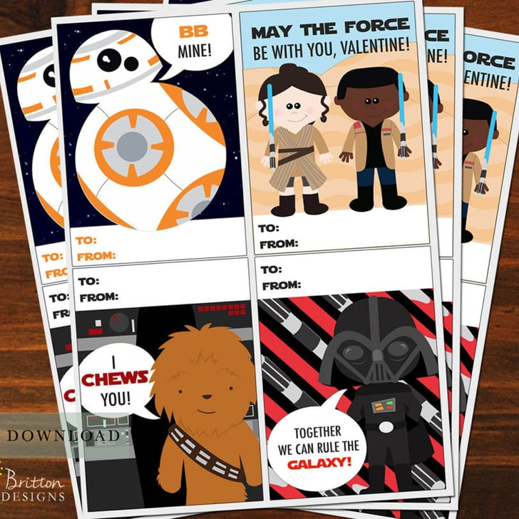 Star Wars Kids Valentine S Day Cards Popsugar Family