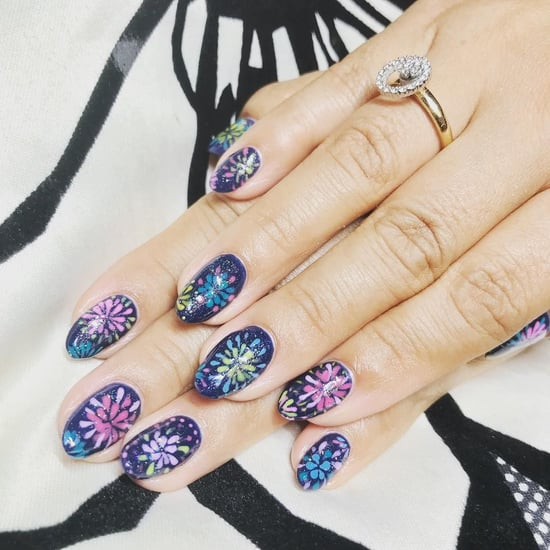Firework Nail Art Ideas