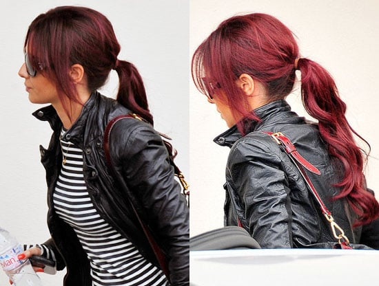 Chery Cole Dyes her Hair Red