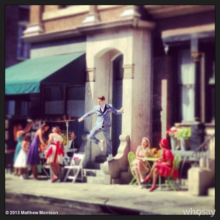 Matthew Morrison filmed a music video. Source: Matthew Morrison on WhoSay